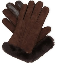 Ugg Carter Smart Sheepskin Gloves Chocolate