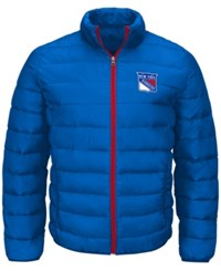 G3 Sports Men's New York Rangers Skybox Packable Quilted Jacket Royalblue Red