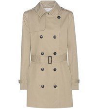Closed Trench Coat Beige
