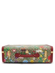 Gucci Gg Flora Coated Canvas And Leather Suitcase Multi