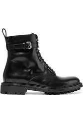 Belstaff Finley Glossed Leather Ankle Boots Black