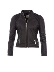 Relish Snake Print Biker Jacket Black