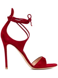 Gianvito Rossi Thin Ankle Strap Sandals Red