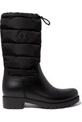 Moncler Ginette Quilted Nylon And Rubber Rain Boots Black