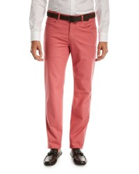 Peter Millar Soft Touch Twill Pants Red