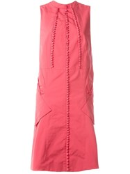 Antonio Berardi Bow Detail Sleeveless Dress Red