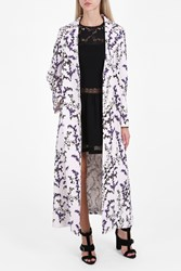Giambattista Valli Long Flower Coat Pink