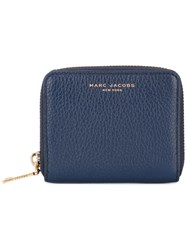Marc Jacobs Zip Around Purse Women Leather One Size Blue