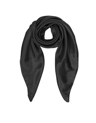 Forzieri Square Scarves Solid Twill Silk Square Scarf