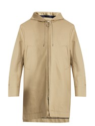 Acne Studios Melton Hooded Cotton Drill Parka Beige