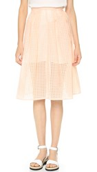 Jack By Bb Dakota Clarice Pleated Skirt Light Peach