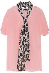 Just Cavalli Neck Tie Chiffon Blouse Pink
