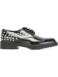 Saint Laurent Star Stud Detailing Lace Up Shoes Black