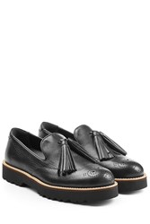 Hogan Leather Loafers Black