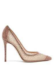 Gianvito Rossi Rania 105 Crystal Embellished Pumps Rose Gold