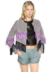 Drome Fringed Suede Jacket