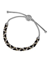 Classic Chain Silver Knot Gray Cord Bracelet John Hardy Grey