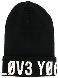 Red Valentino Embroidered Logo Hat Black