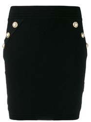 Balmain Knit Mini Skirt Black