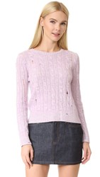 Marc Jacobs Marled Cable Crew Sweater Light Purple