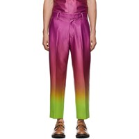 Sies Marjan Pink And Yellow Alex Degrade Cropped Trousers