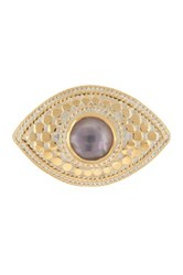 Anna Beck 18K Gold Plated Sterling Silver Amethyst Third Eye Ring Metallic