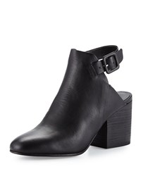Eileen Fisher Bonus Leather Ankle Strap Bootie Black
