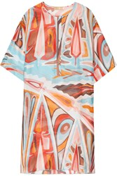 Emilio Pucci Printed Silk Gauze Kaftan Orange