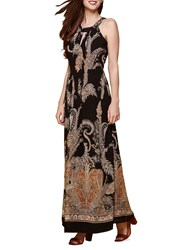 Yumi Wild Flower Print Maxi Dress
