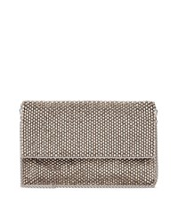 Reiss Minty Womens Embellished Foldover Bag In Grey