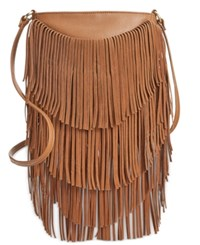 Inc International Concepts Fringe Crossbody Only At Macy's Cognac