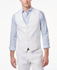 Inc International Concepts Men's Classic Fit Stretch Vest Only At Macy's White