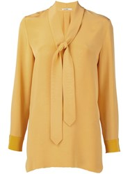 Edun Neck Tie Blouse Yellow And Orange