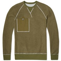 Nigel Cabourn X Lybro Reversible Army Crew Sweat Grey And Army