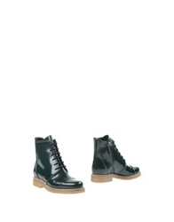 Vicini Tapeet Ankle Boots Emerald Green