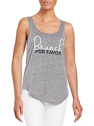 Signorelli Brunch Por Favor Graphic Tank Heather Grey
