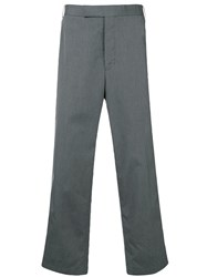 Thom Browne Side Stripe Chinos Grey
