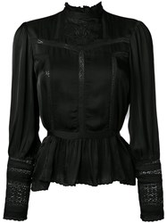 Denim And Supply Ralph Lauren Flared Hem Blouse Black