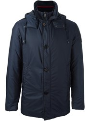 Paul And Shark Hooded Padded Jacket Blue