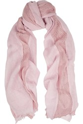 Maje Open Knit Wool Scarf Pink