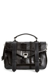 Proenza Schouler 'Medium Ps1 Exotic Stripe' Genuine Snakeskin And Leather Satchel