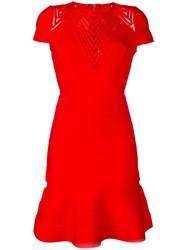 Herve Leger Hillary Dress Red