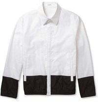Jil Sander Panelled Lightweight Woven Cotton Bomber Jacket White