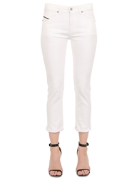 Diesel Black Gold Coated Stretch Cotton Denim Jeans White