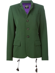 Jean Paul Gaultier Vintage Side Tie Detail Blazer Green