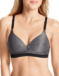 Warner's Play It Cool Wire Free Bra Dark Grey