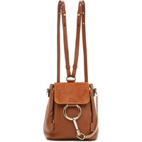 Chloe Tan Mini Faye Backpack