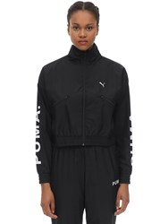 Puma Select Cropped Nylon Track Top Black
