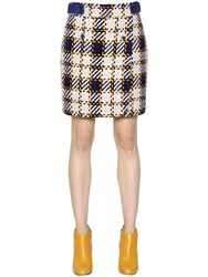 Trussardi Woven Suede Skirt With Wrap Effect
