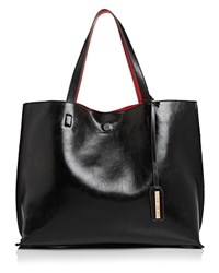 Street Level Reversible Tote Black Red Gold